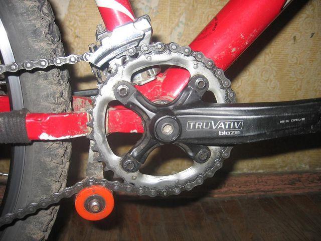 Как сделать чтобы на велосипеде цепь не слетала